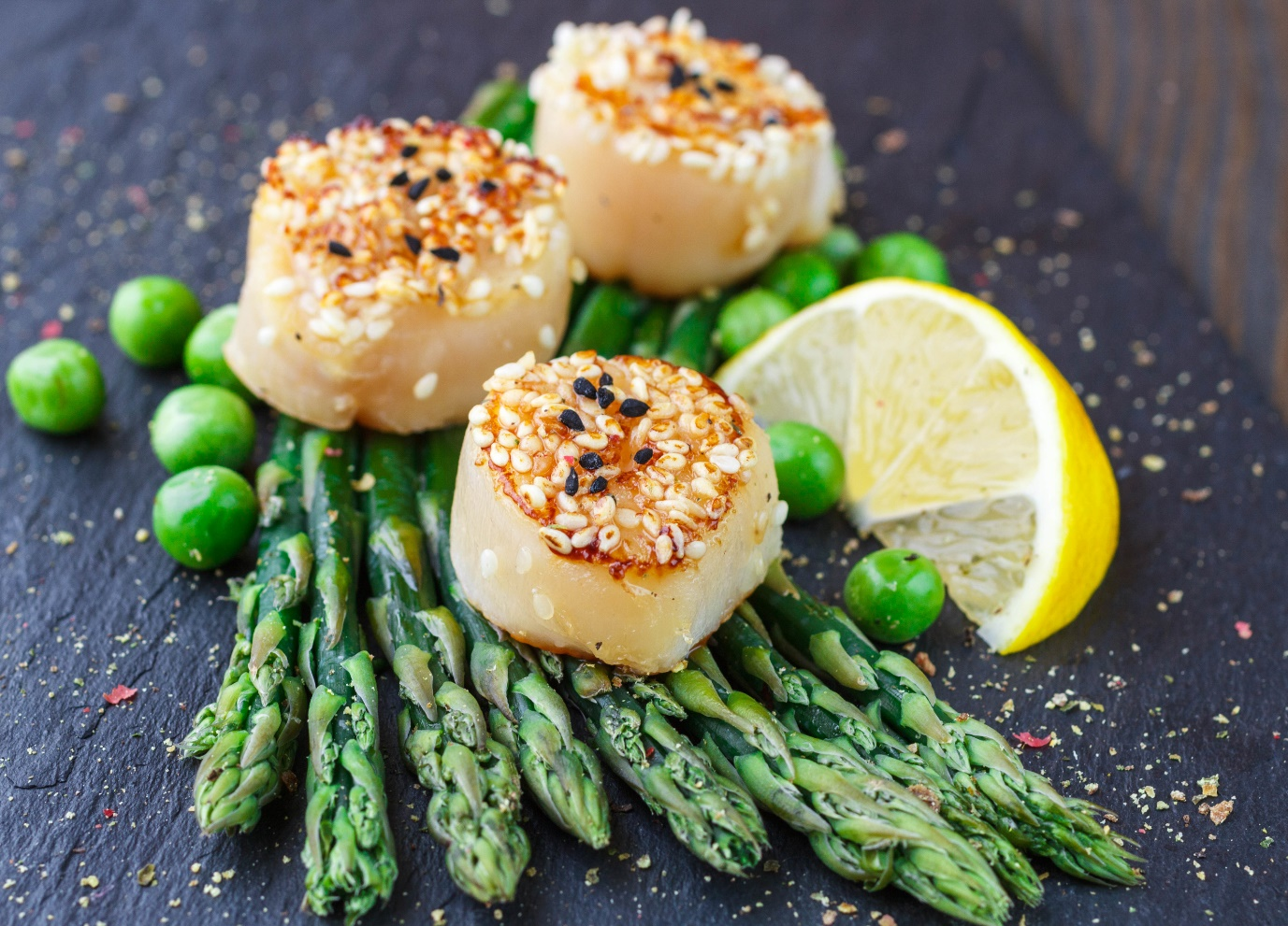 seared scallops with steamed vegetables  mother strong league
